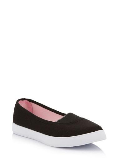 DeFacto Genç Kız Kanvas Ayakkabı Siyah